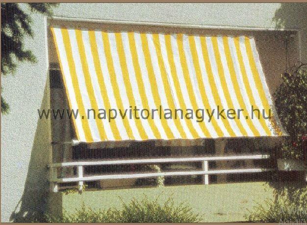 Praktikusan megoldható az erkélyek árnyékolása.  http://www.napvitorlanagyker.hu/erkely.html