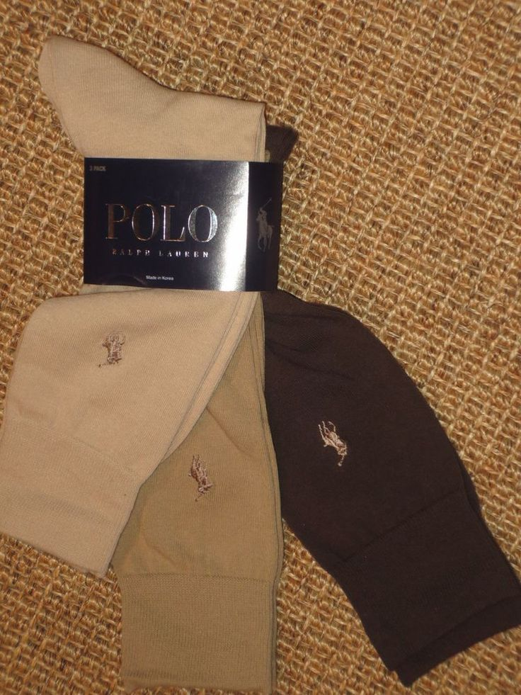 POLO  RALPH LAUREN  MEN'S  DRESS  SOCKS  3  PAIRS  BROWN  BEIGE  TAN  NEW #PoloRalphLauren #Dress