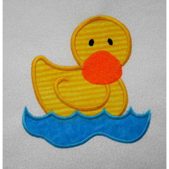 DUCK Farm Applique and Embroidered Quilt Block by by amyglitterbug, $6.99