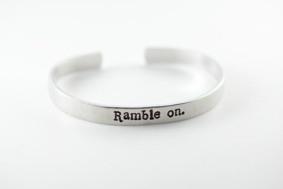 Led Zeppelin Ramble on. Stamped Cuff by JTSkyDesigns on Etsy