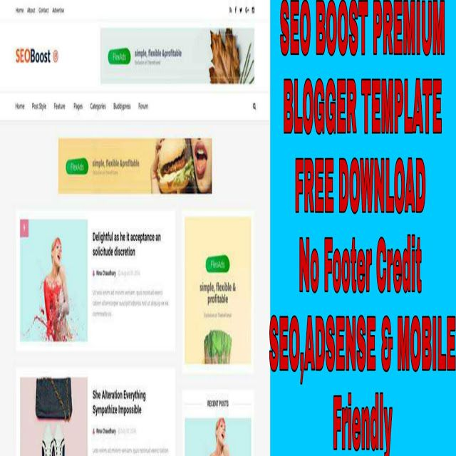 Seo Boost Premium Blogger Template Free Download Mobile Friendly Seo Friendly And Google Adsense Friendl Blogger Templates Free Blogger Templates Templates