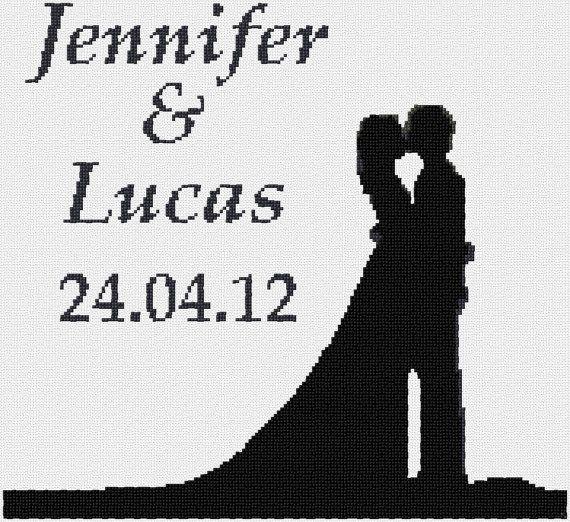 Simple Wedding Sampler Cross Stitch PDF Pattern by LoveThyThread, $3.50