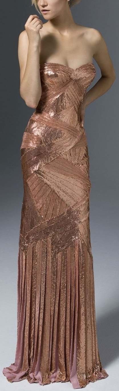 Versace. Metallic pink dress