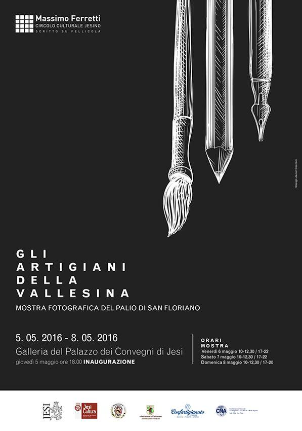 Manifesto per la mostra fotografica del Circolo Ferretti di Jesi in collaborazione con l'Ente Palio presente nell'edizione 2016 .