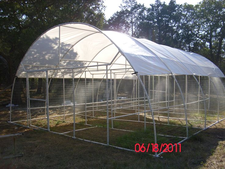 Pictures of a build it yourself pvc dome greenhouse for Build it yourself greenhouse