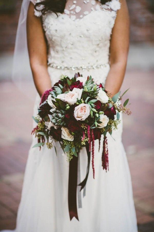 Elegant pops of marsala in this bridal bouquet | Dallas Kolotylo Photography