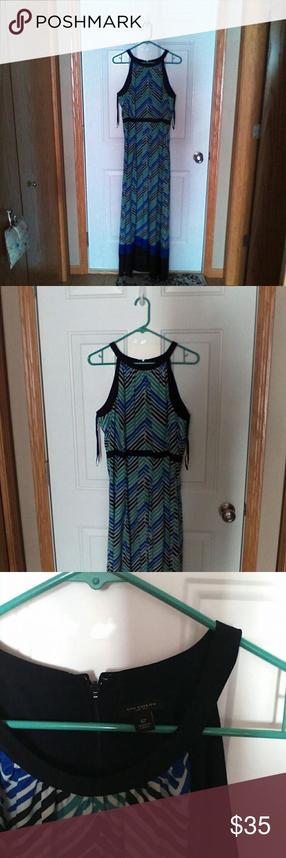 Chevron print maxi dress Ann Taylor chevron print maxi dress Ann Taylor Dresses Maxi