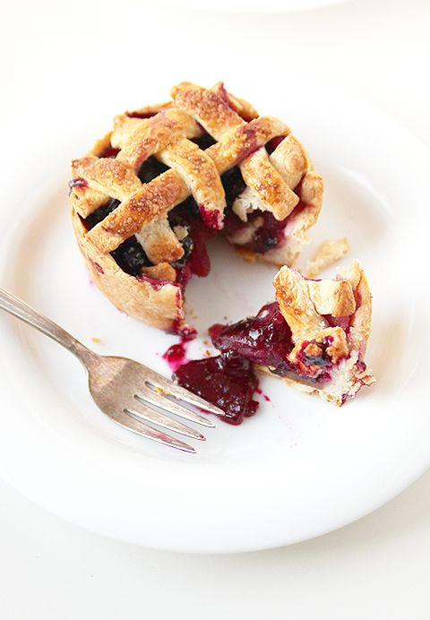 Happy Pi Day!!! | 3/14 | Mini Blueberry Apple Pie | Dessert Recipes | Whole Foods Market | via The Faux Martha