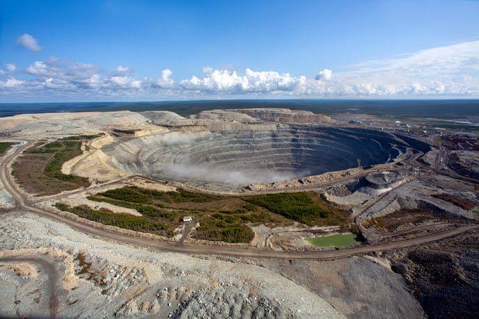 Miniera di Diamanti in Russia.