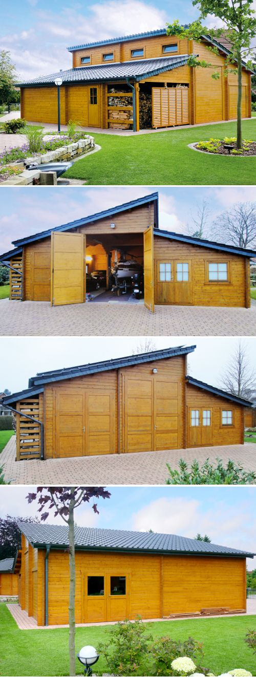1000  images about wolff´s blockhaus   xl holzgarage / garage on ...