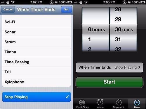 You can use a timer to help you shut down the music. To do this, tap on Clock > Timer > When Timer Ends. Scroll down and tap Stop Playing. Then, set a timer (say 30 mins) and tap Start. Now you may play any music and it will be turned off after 30 mins.  #iphonehack #iphonetip #iphonelifehack #iphonemusic #timer #cellphone #fusionelectronixCheck thisYou can use a timer to help you shut down the music. To do this, tap on Clock > Timer > When Timer Ends. Scroll down and tap Stop Playing. Then…