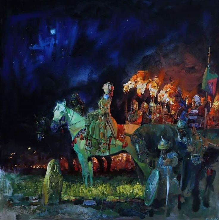 Kök Turk (Tujue) Khatun And Her Turkic Army - Gökturks