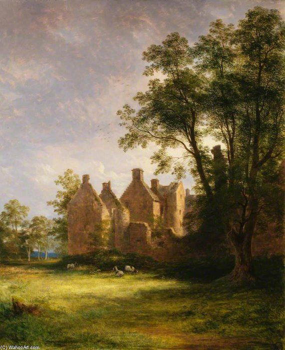 Château Tolquhon de James William Giles (1801-1870, United Kingdom)