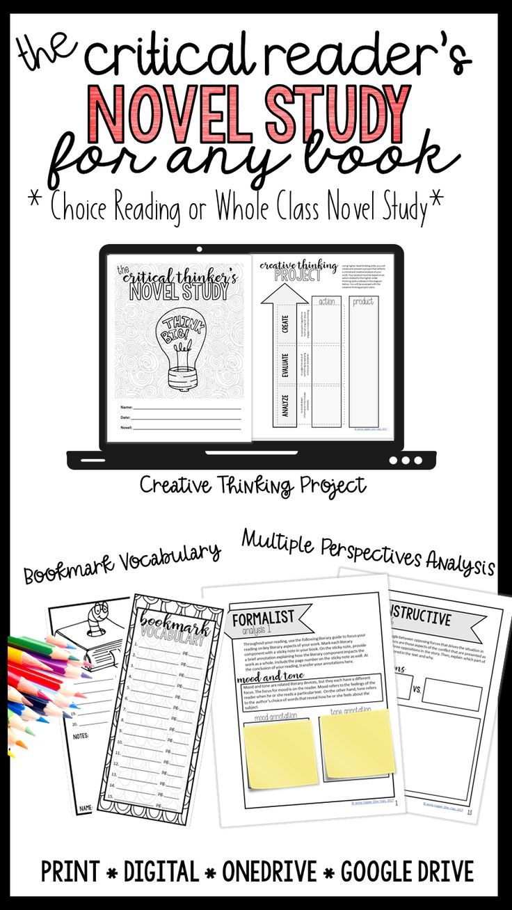 The Critical Reader's Complete Novel Study Unit