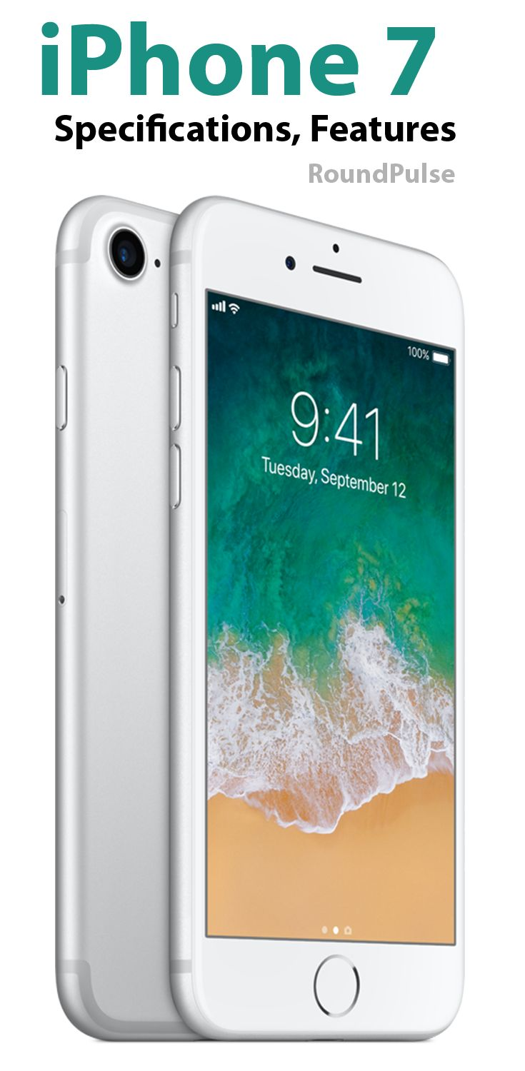 iPhone 7 Specifications and features.  #iphone7 #mobiles #technology #mobilephones