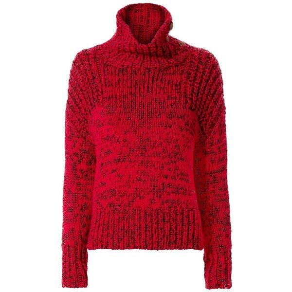 Rag & Bone Women's Sandra Gold-Button Turtleneck ($595) ❤ liked ...