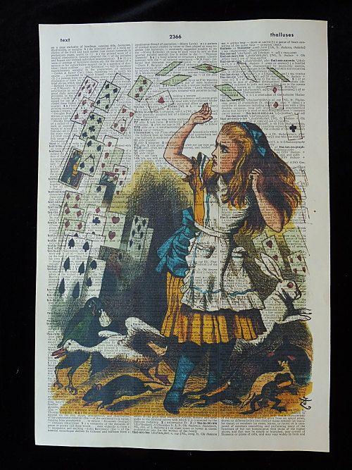 Alice in Wonderland Wall Art Print No.146 by DecorisDesigns