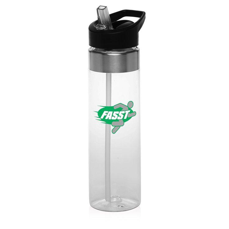 Logo PG119 24 oz. BPA Free Tritan Plastic Promotional Water Bottles