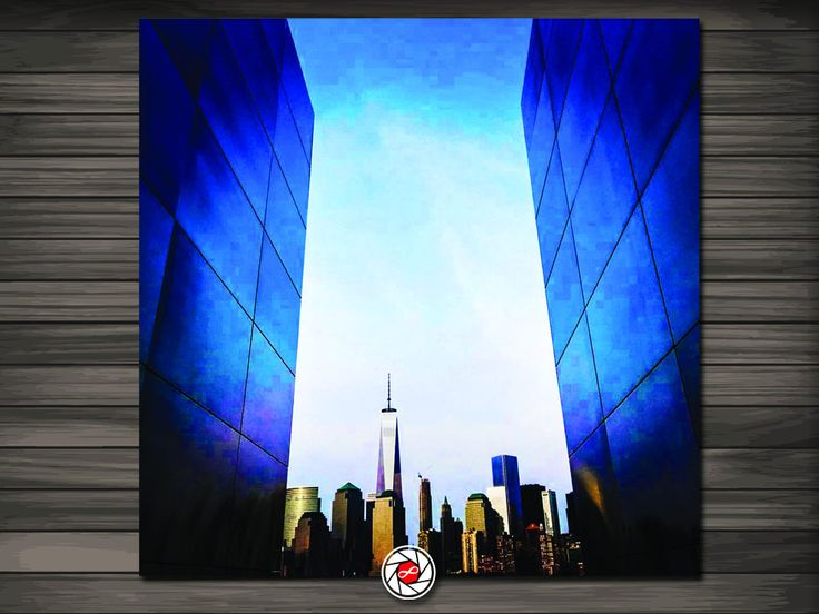 World Trade Center Memorial  - Portrait -  Urban Photography - FREE DOMESTIC SHIPPING by InfinityPhotoStudio on Etsy