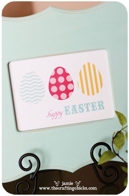 Easter Art Free Printable by Jamie @ www.thecraftingchicks.com