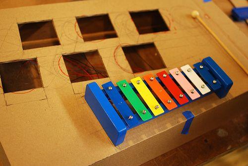Xylophone with box prototype