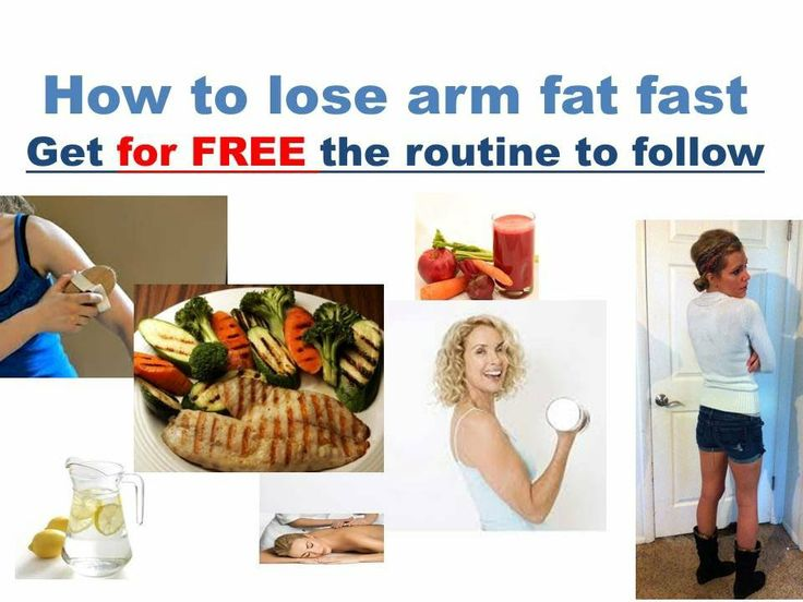 how to lose weight in arms and legs fast