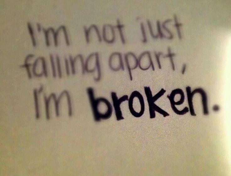 I'm not just falling apart, I'm broken...never cried so much...till tonight...it fell apart...I screw everything up...and this time..i don't think I can fix what I did...I apologize...im so sorry