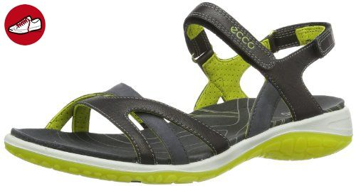 Ecco Kawaii Sandal Black/Black/D.Shadow S/S/D 822603 Damen Sport- & Outdoor Sandalen, Grau (DARK SHADOW/DARK SHADOW/SULPHUR 58410), EU 36 - Ecco schuhe (*Partner-Link)