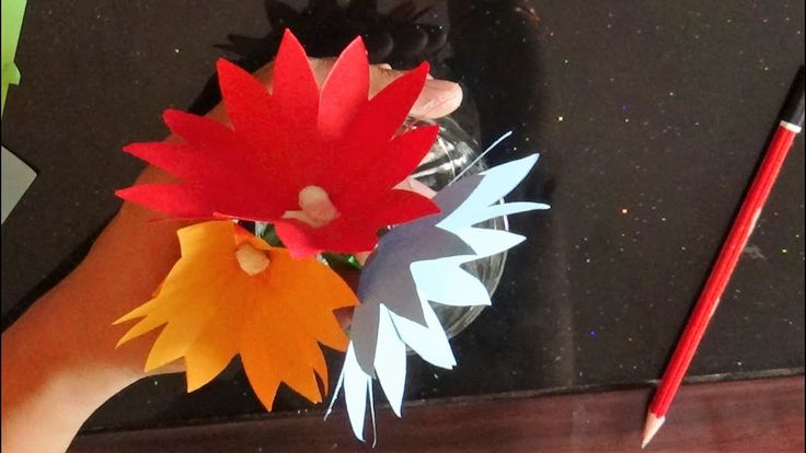 Kids Crafts  - Simple Origami flower making instructions