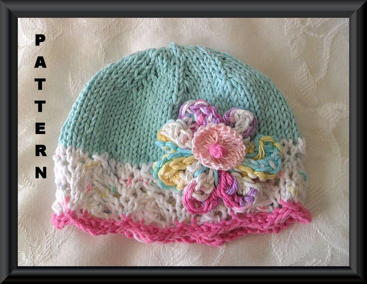 Knitting Pattern for a Baby Hat-Knitted Children Clothing Pattern -Hand Knitted BABY HAT PATTERN-Fantasy Flower Cloche. $4.99, via Etsy.