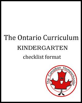Ontario Checklists - Kindergarten