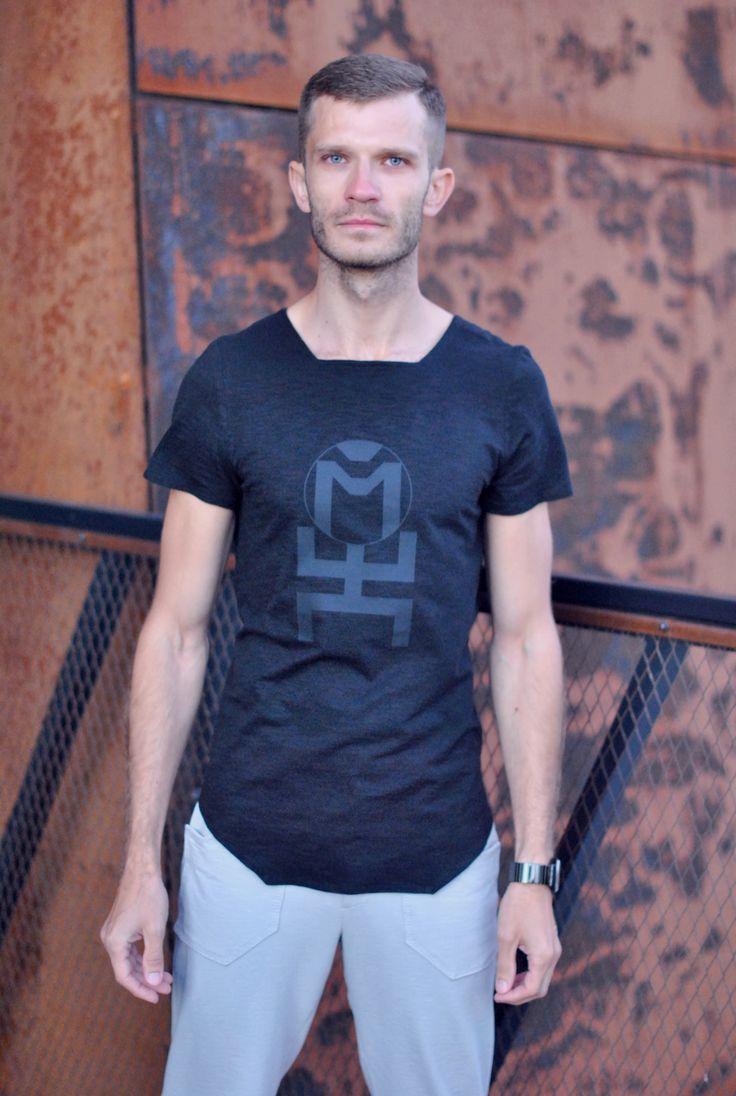 Men's tunic T-shirt BLACK