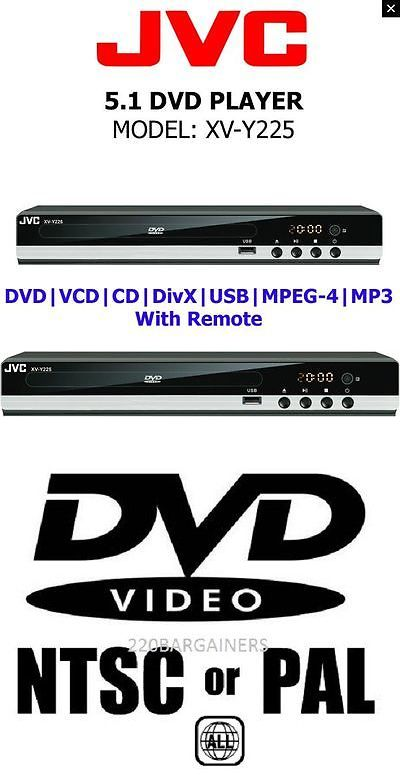 DVD and Blu-ray Players: Jvc All Region Code Free Dvd Player! 5.1 Channel - Plays Pal Ntsc Disc Worldwide -> BUY IT NOW ONLY: $64.99 on eBay!