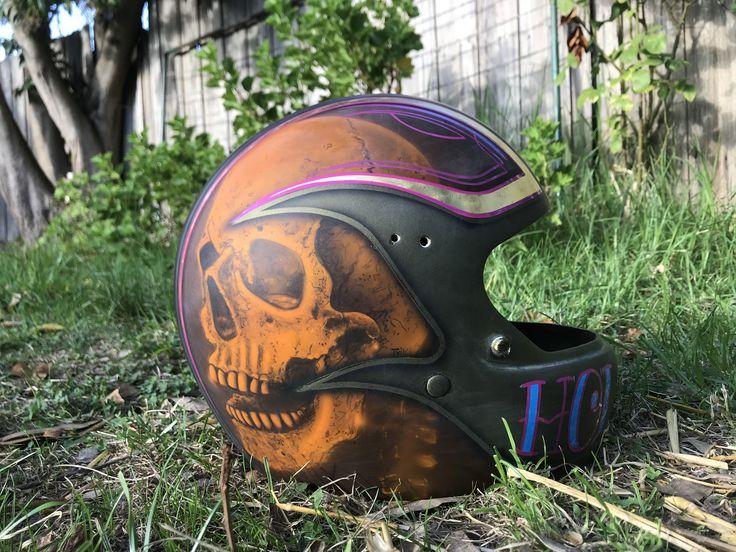 Custom helmet the everyday dude paint airbrushing custom