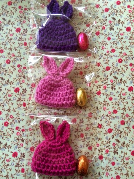 bunny egg cosier or dolls' hats? from Why Didn't Anyone Tell Me? blog