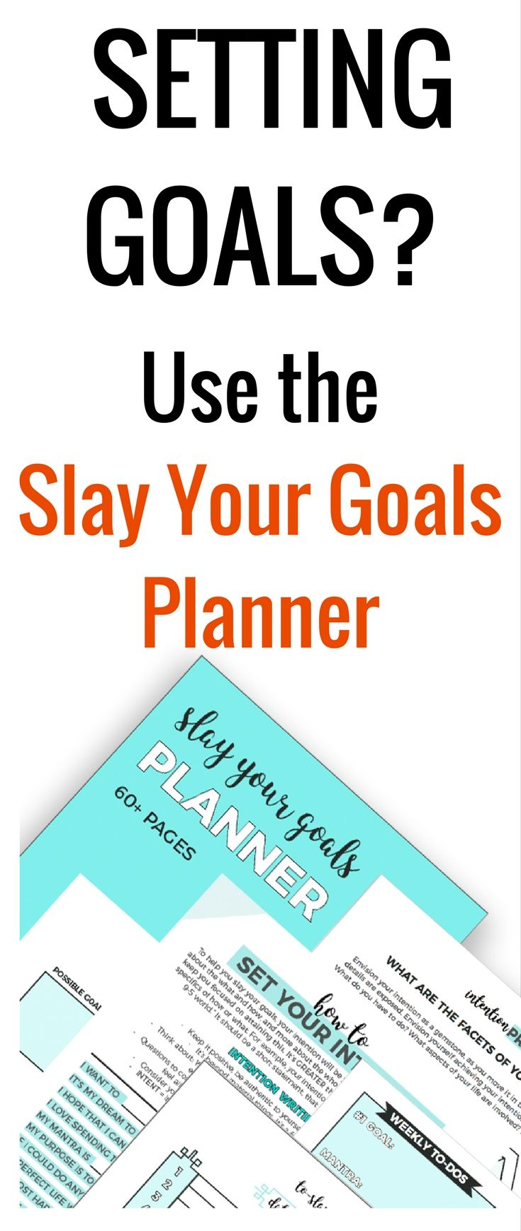 Do you need a setting goals worksheets planner? Eliminate overwhelm in the process of setting and achieving your goals. This planner is for you. #goalsetting #Printable (aff link)