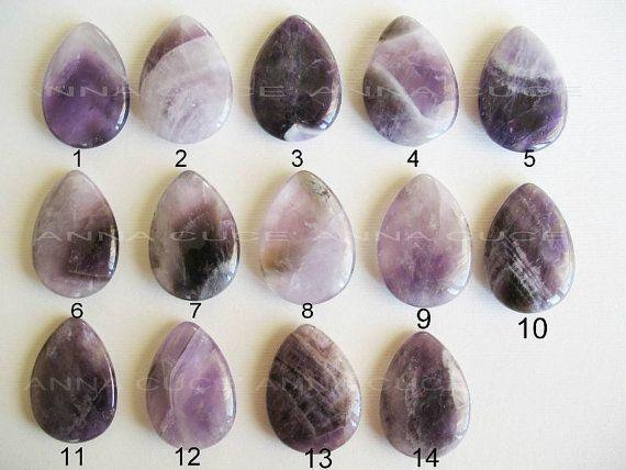 Cabochon ametista pietra preziosa goccia misura 35 x di AnnaCuce