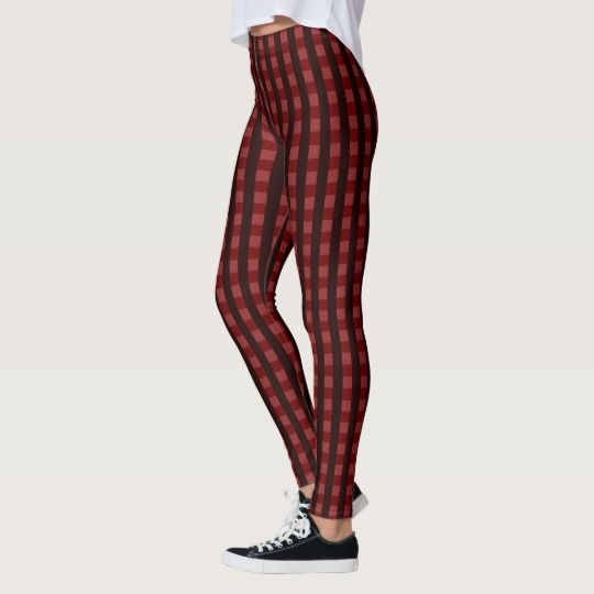 #Traditional #scottish #pattern #red #tartan #chequered #pattern, worker clothing #leggings