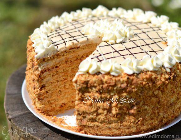 """Арахисовый торт """"Коровка"""""""