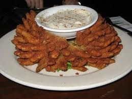 Baked Blooming Onion - the whole thing is only 853 calories, compared to the fried recipe which is 3000 calories | via @SparkPeople