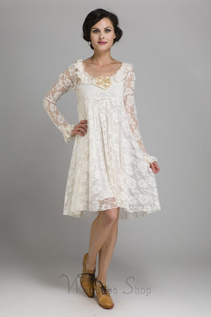 60s Wedding Dress | 1960s Style Wedding Dresses Camelot Romantic Flitry Dress by Marrika Nakk $318.00 AT vintagedancer.com