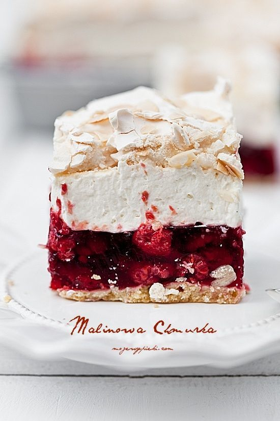 Raspberry Cheesecake with Meringue // Himbeer-Käsekuchen mit Baiser