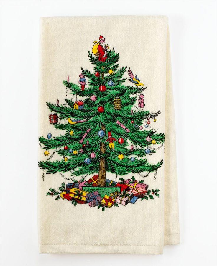 "Spode ""Christmas Tree"" Kitchen Towel"