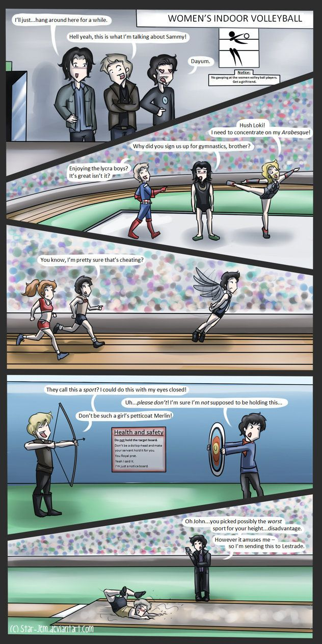 Superwholockingers - at the Olympics by ~Star-Jem on deviantART , poor jawn