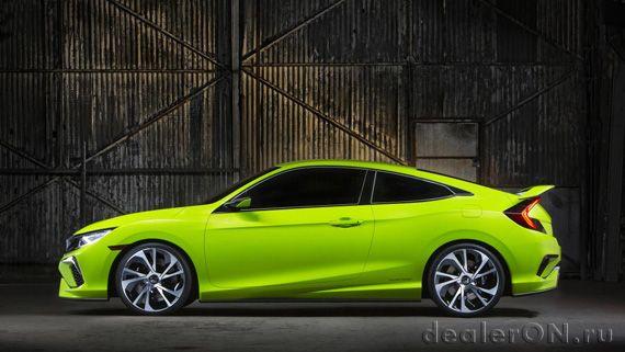 Хэтчбек Honda Civic 2016 / Хонда Сивик 2016 – вид сбоку