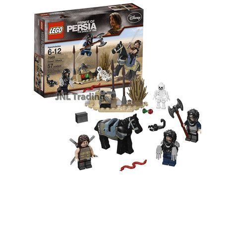 Lego Prince of Persia Scene Set 7569 - Dsesert Attack with Horse, Snake & Skeleton Plus Dastan & 2 Hassansins Minifigures (Total Pieces: 57)