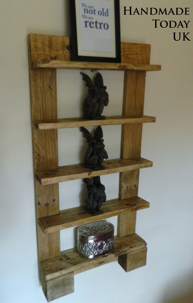 Handmade Rustic 5 Tier Shelf Unit Made From Recycled Pallet Wood