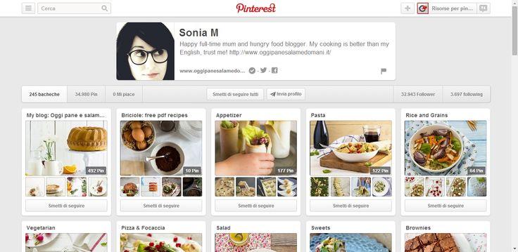 Sonia M profile on Pinterest; great italian food blogger