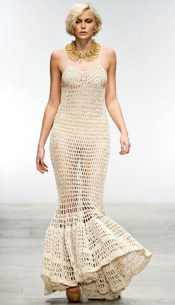 Tendência 2012   Crochê e macramê são destaques na moda internacional