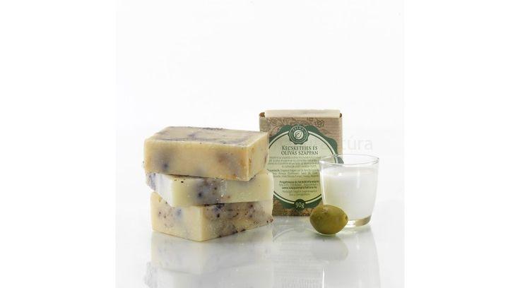 Kecsketejes és olívás szappan